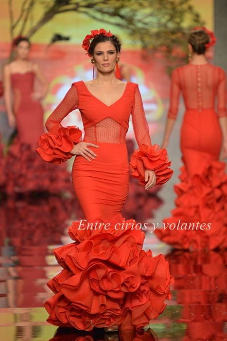 Rosapeula ·SimoF 2015 · Moda Flamenca por Claudia Alfaro.