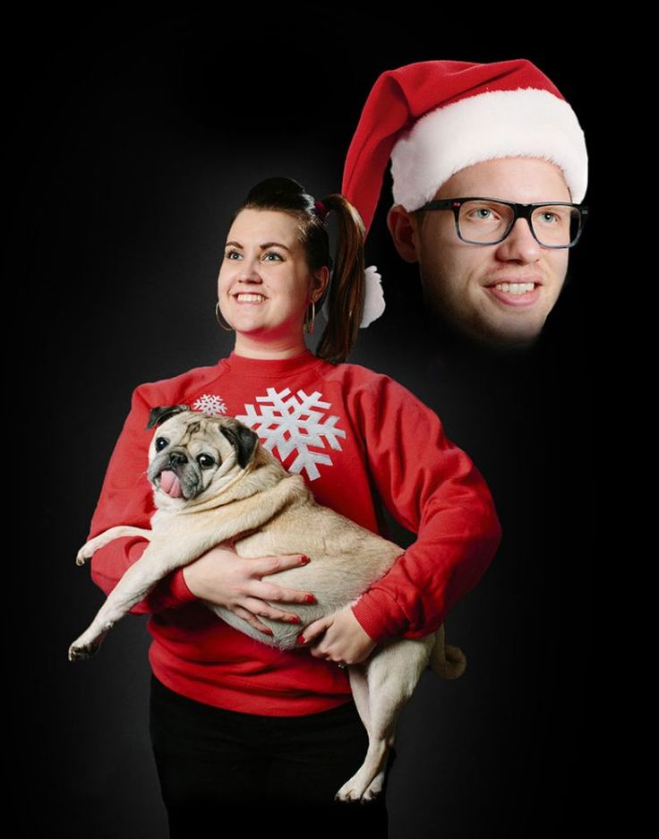 Old-school portrait: Tacky Christmas sweaters might score a 2 or 3 on the awkward scale. But a creepy floating head gets a perfect 10. (Photo: Kristian Gorman)