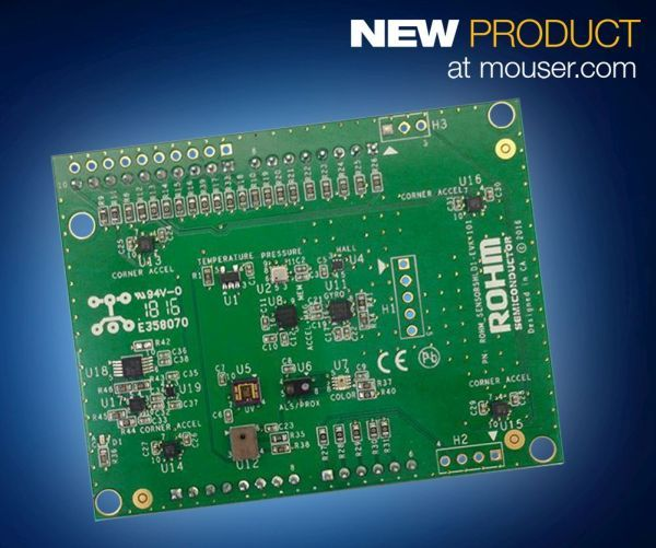 Mouser Electronics annuncia che ha in magazzino la nuova Evaluation Kit Sensor Shield SENSORSHLD1-EVK-101 di ROHM Semiconductor. Questa Sensor Shield, di seconda generazione, integra 10 sensori onboard compatibili con Arduino Uno R3 per garantire al kit di funzionare con le piattaforme prototipazione open source esistenti. La Evaluation Kit Sensor Shield SENSORSHLD1-EVK-101, disponibile da Mouser Electronics, …