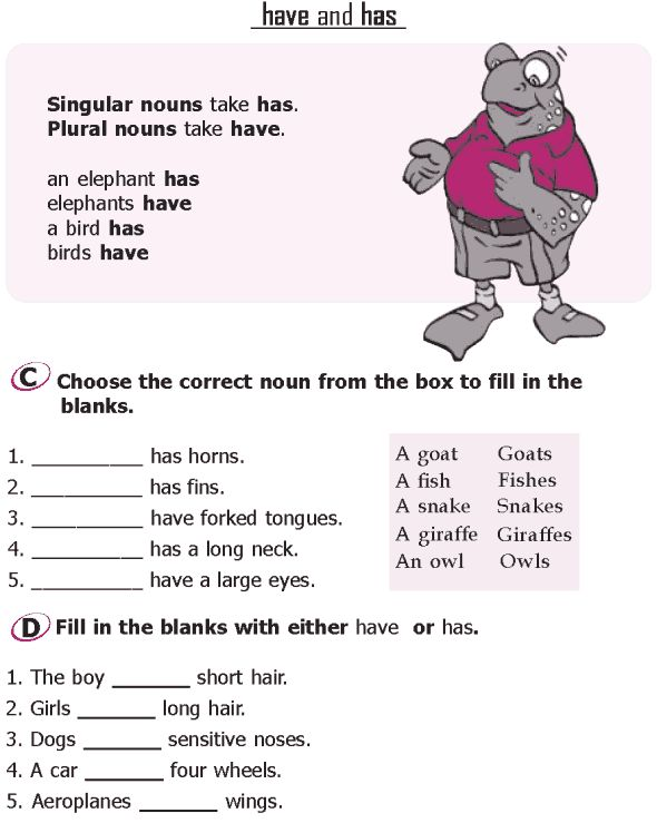 Worksheets Grade 1 English Grammar 48 best images about english exercises for kids on pinterest grade 1 grammar lesson 15 verbs have and has 2