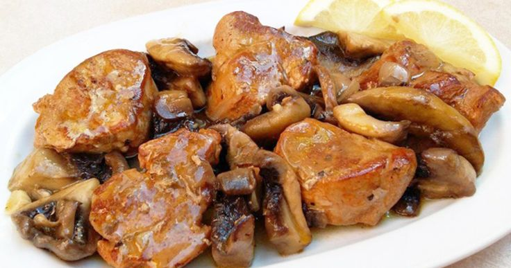 Ψαρονέφρι τηγανιά με μανιτάρια