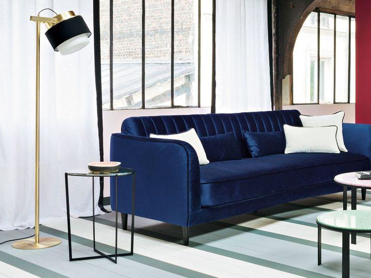 26 best canapé bleu en velours images on Pinterest