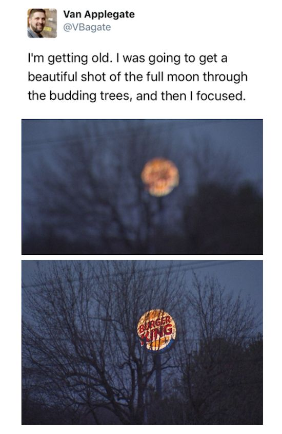 Ahh Burger King ... My moon