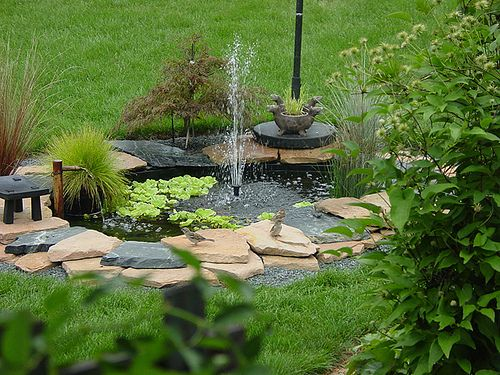 24 best outside water features and ponds for fish. images on ... - Small Patio Pond Ideas
