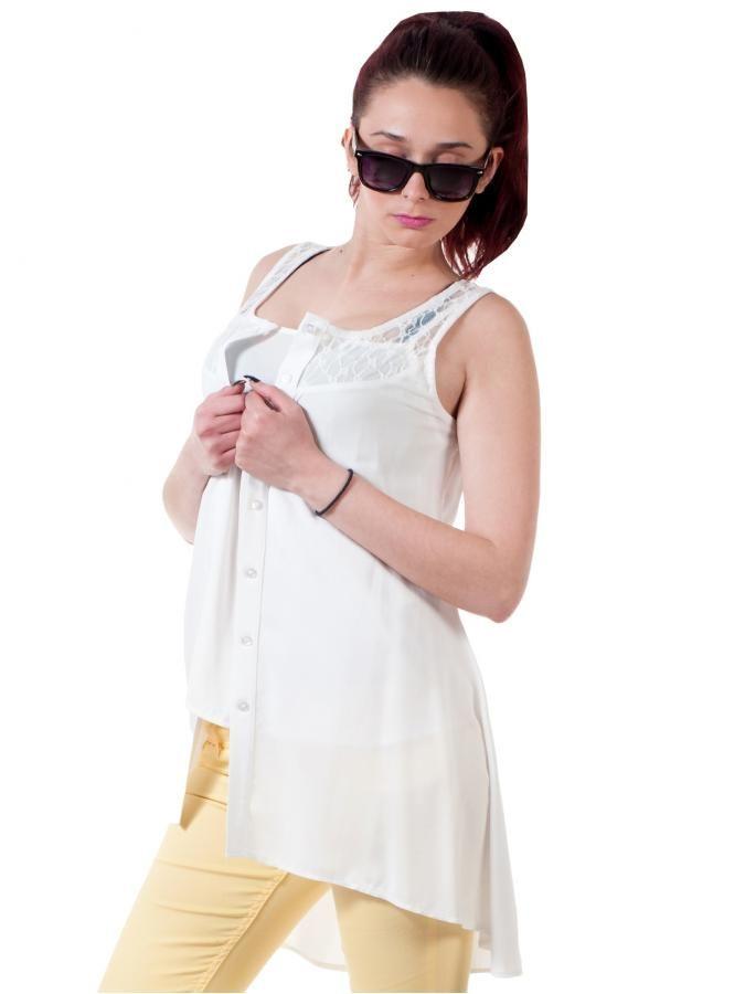 Αμάνικη ασύμμετρη τουνίκ-πουκαμίσα