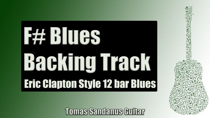 Eric Clapton Style 12 Bar Shuffle | Guitar Backing Track Jam in F# Blues with Chords |F# Blues Scale