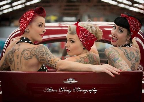 Rockabilly friends photo shoot- Yes, yes, YES!!! http://www.thepinuppodcast.com shares this pinup pin because it is worthy!!