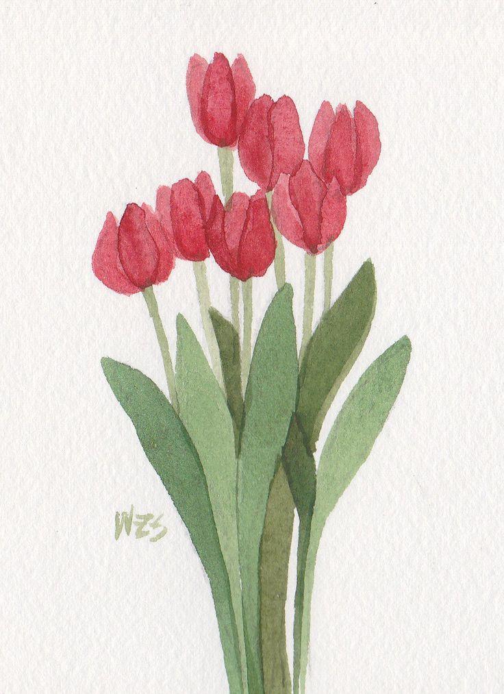 Tulipani rossi 5x7 arruffati acquerello originale di acquerelli di Wandas di wandazuchowskischick su Etsy https://www.etsy.com/it/listing/256855930/tulipani-rossi-5x7-arruffati-acquerello