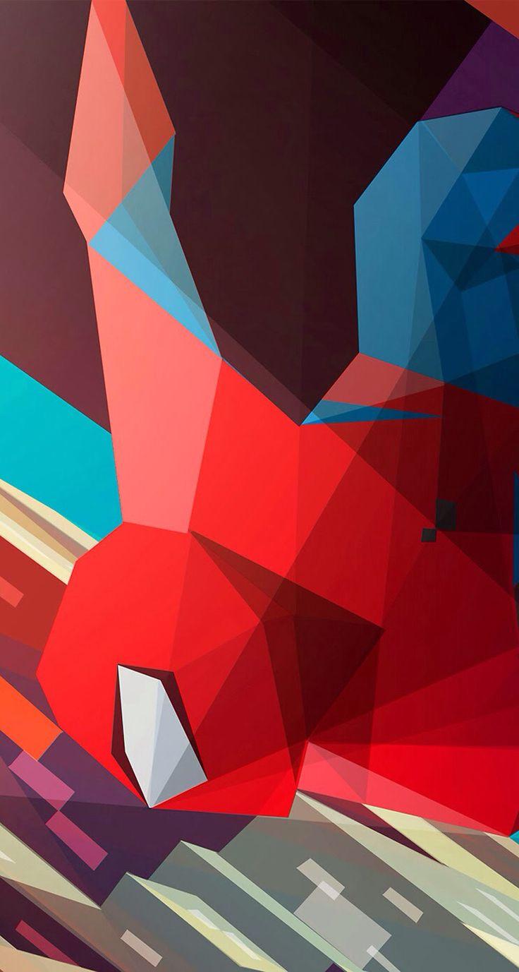 Red Geometric Cool Wallpaper