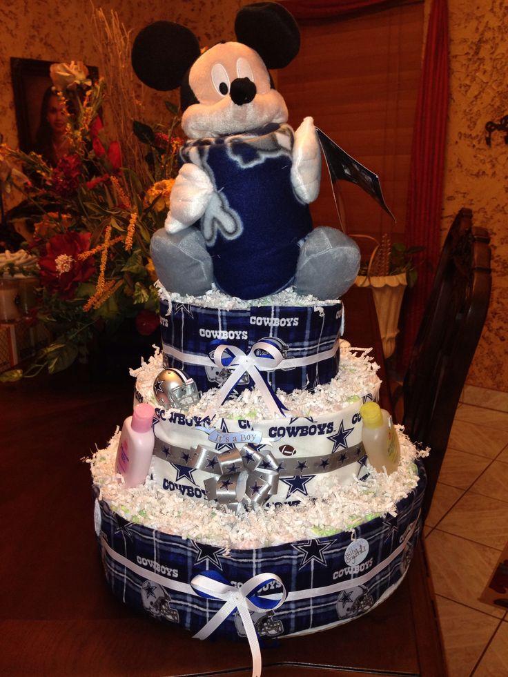 Superb Dallas Cowboys Diaper Cake :) · Texans Baby ShowerCowboy ...