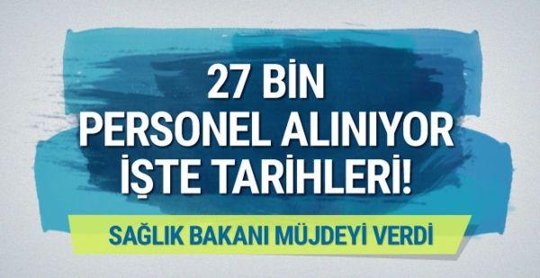 Bakan Demircan müjdeyi verdi: 27 bin sağlık personeli alınıyor #haber #sondakika