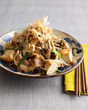 豆腐とまいたけのチャンプルー