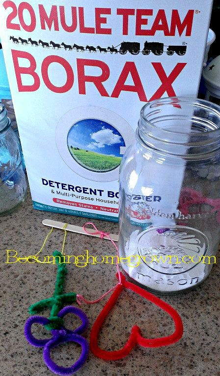 Borax craft box pipe cleaners set up