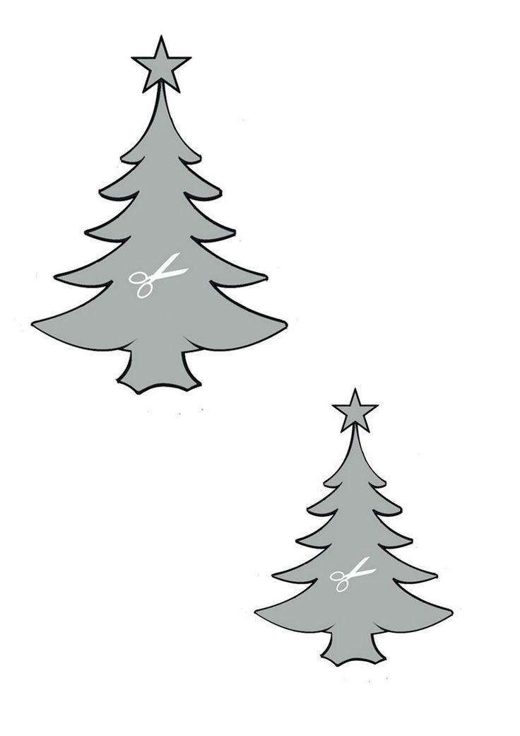 schablone tanenbaum zum ausdrucken  bastelvorlagen