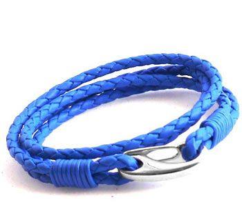 Blue Boy S Leather Bracelet Bracelets Pinterest Boys And