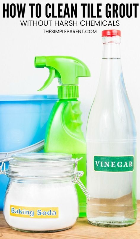5 easy steps how to clean grout with vinegar and baking soda rh pl pinterest com