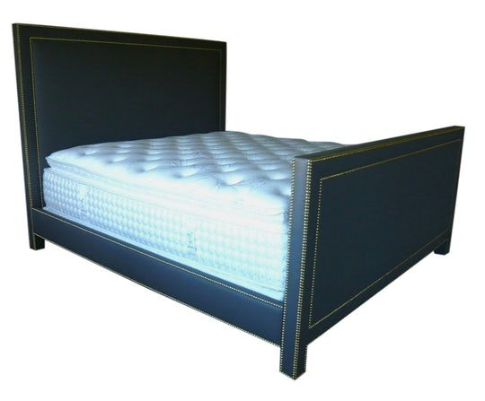 Bolsa Chica Bed Contemporary, Leather, Upholstery Fabric, Bed by Tim Clarke Interior Design