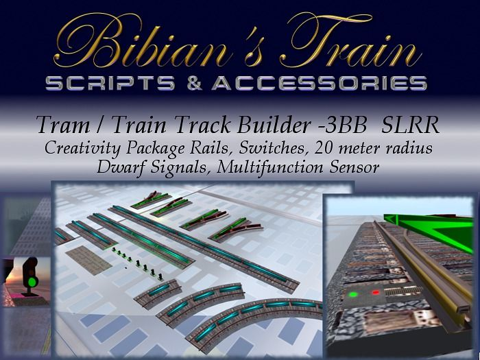 Tram / Train Track Builder Creativity Package - 3BB SLRR