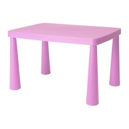 Ikea Mammut Pink Kids Childrens Table Discontinued Rare Color -- More info could be found at the image url.