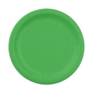 Custom Green Paper Plate 7 Inch Paper Plate