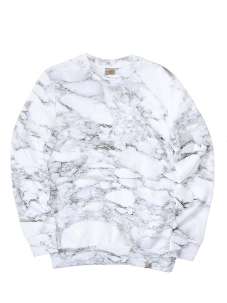Carhartt (Work in Progress) - White Marble Sweatshirt