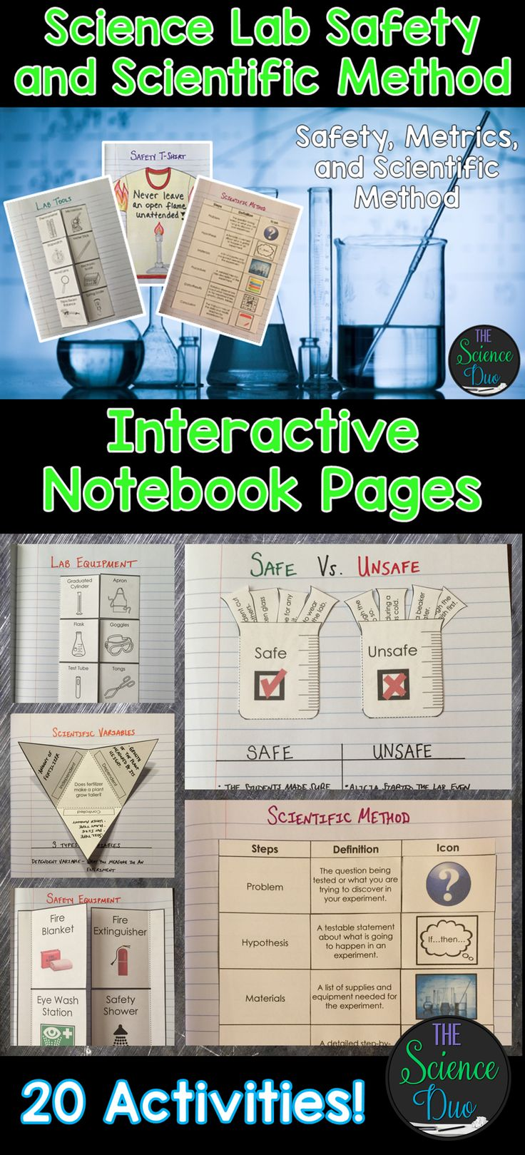 best ideas about science labs fun sensory science lab safety and scientific method interactive notebook pages
