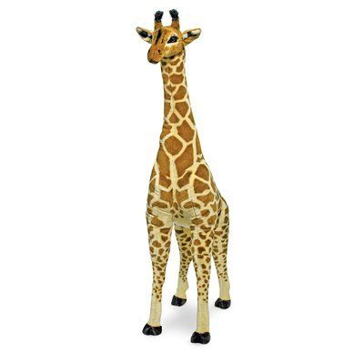 This #giraffe plush is over four feet tall, and makes a great friend for any nursery! #styleyourwall #nursery