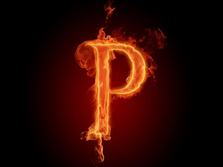 The fiery English alphabet picture P resolution 1920x1440