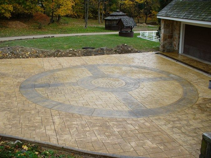 Compass, Stamped Traditional Decorative Concrete DecoCrete by ...