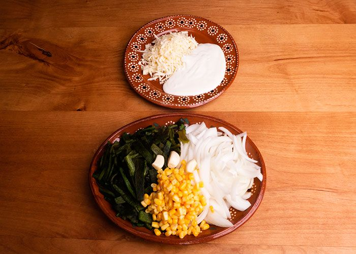 Ingredients to Make Rajas con Queso
