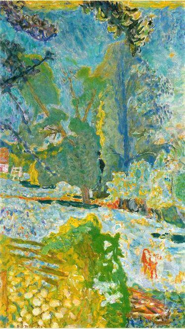 Pierre Bonnard, Normandy Landscape, 1920, oil on canvas, 105 x 60 cm ...