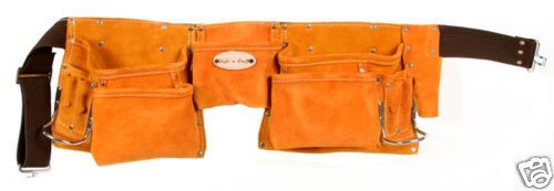 Style n Craft 91426 -11 Pocket Carpenter's Tool Belt in Heavy Duty Suede Leather #StylenCraft #Leathertoolbelt