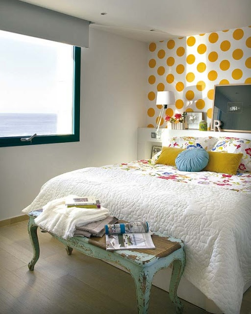 Yellow Dots Bedroom Accent Wall Bedroom Accent Wall Color And Decorating  Suggestions Interior Design Part 80