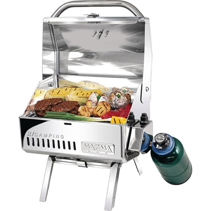 Magma Portable Mesquite Traveler Series RV Camping Propane Gas Barbecue Grill in Stainless Steel (Silver) http://grillingideas.org/best-gas-grills/