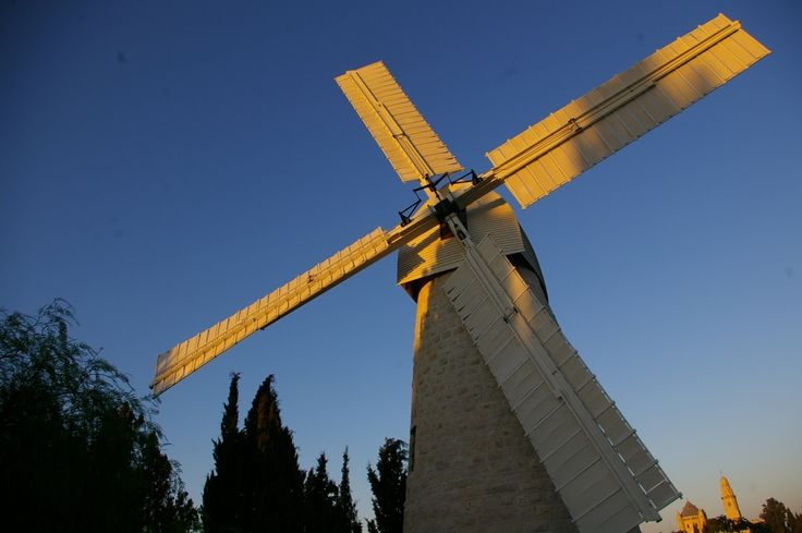 Jerusalem's historic Montefiore Mill restored after 136 years with Accoya® Wood. #accoya #wood