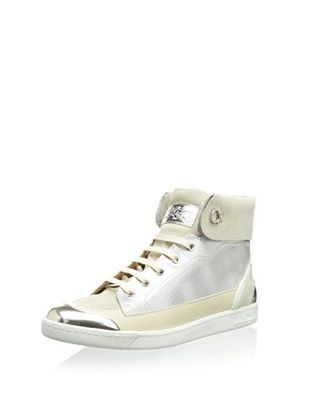 26% OFF Salvatore Ferragamo Women's Tobsi Sneaker (Gold/Slver)