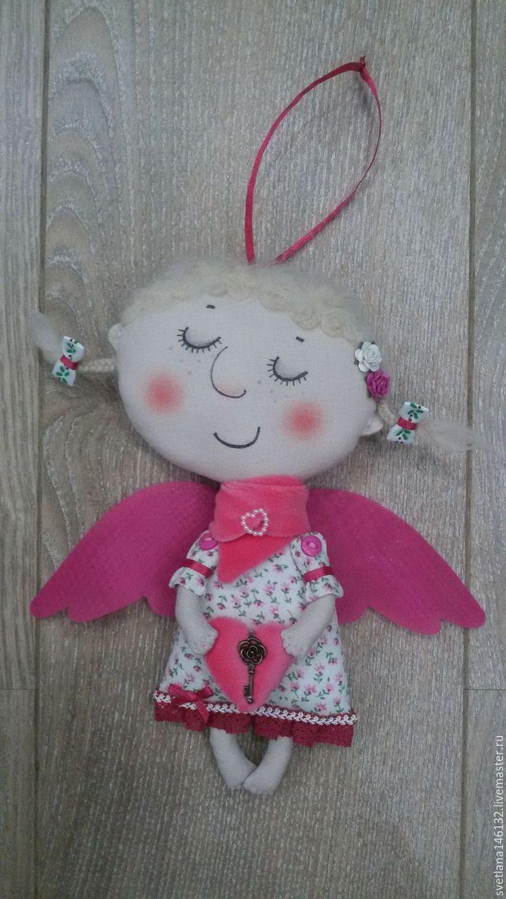 Купить Ангелочек - розовый, малиновый, ангел, ангелочек, ангел-хранитель, Ангел хранитель, ангелочки, ангелок