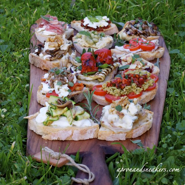 Apron and Sneakers - Cooking & Traveling in Italy and Beyond: 12 Bruschette For 12 Months of Blogging