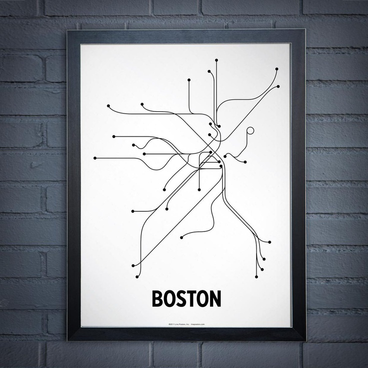 Lineposters Black And White Transit Maps 74