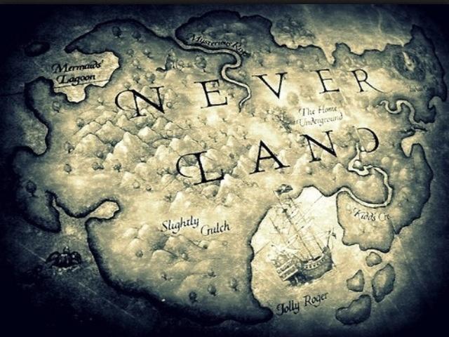 Neverland map
