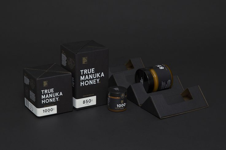 Brand identity and packaging by Marx Design for The True Honey Company, a New Zealand-based business specialising in mānuka honey