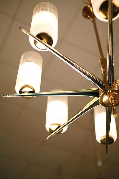 Gorgeously retro Italian chandelier $3200