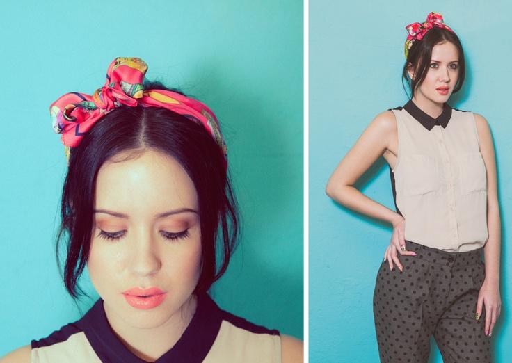 www.yaelle.co.uk cute silk hair scarf