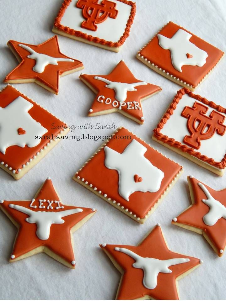 Hook 'em Horns Cookies UT Cookies University of Texas at Austin Cookies  Texas Cookies #Texas #UTCookies #hookemhorns decorated cookies