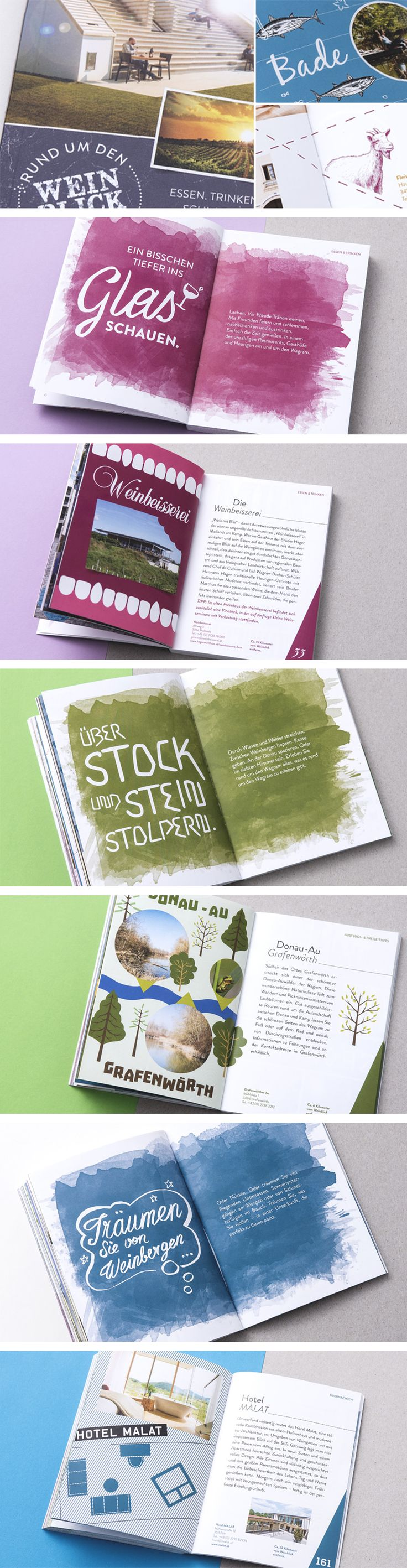 WEINBLICK WAGRAM // Brochure: By www.lunik2.com #design #marketing #travelguide…
