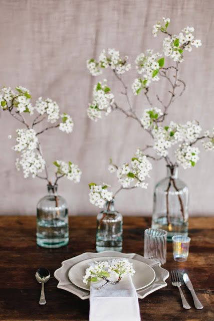 Honey of a Thousand Flowers - Journal - Blooming branches centerpiece