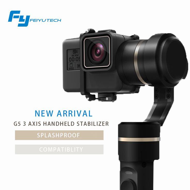 Feiyutech officiële winkel fy g5 3-axis handheld gimbal voor gopro hero 5 en andere actie camera splashproof fy g5 gimbal