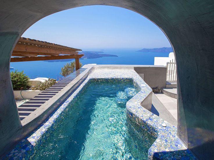 Villa con piscina sul meraviglioso mare di santorini