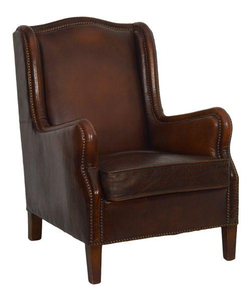 Bestel online de antieke half hoge fauteuil tweedehands bruin. Tweedehandse…