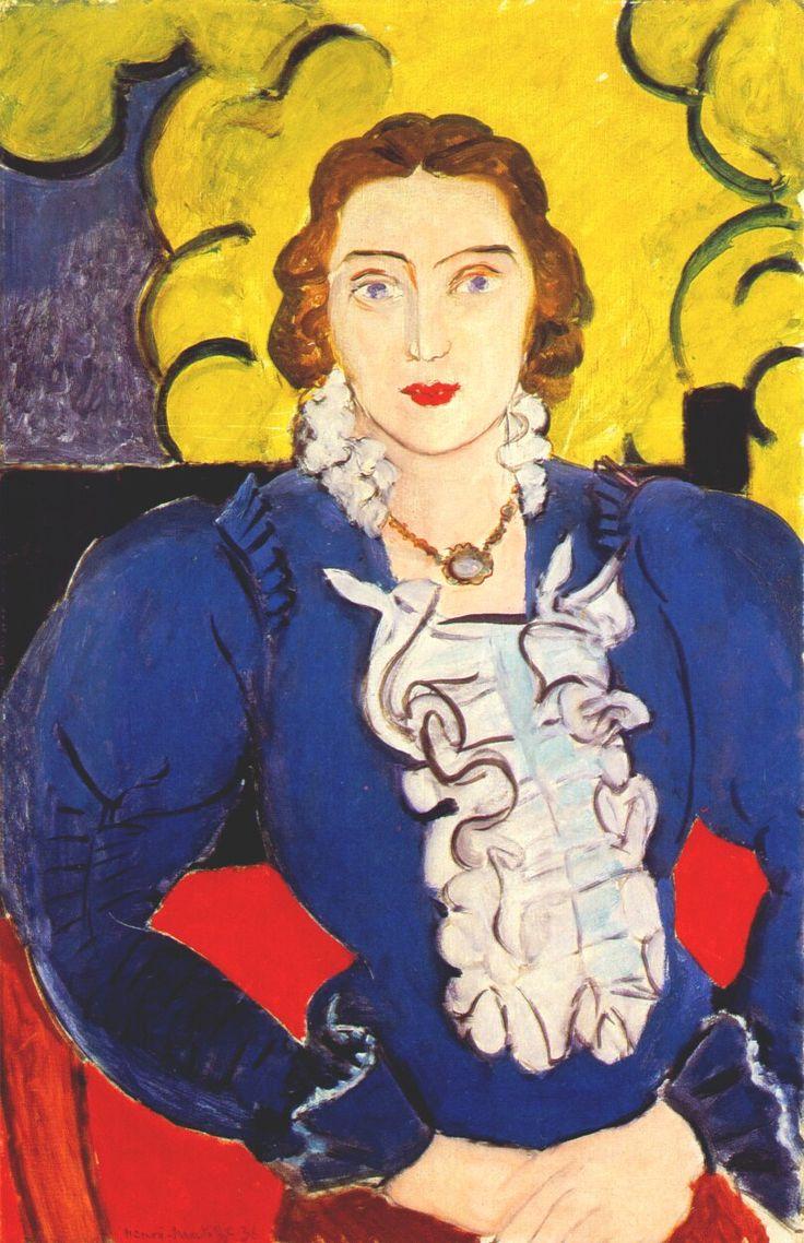 'Madame L.D. la blouse bleue' Henri Matisse 1936 (Lydia Delectorskaya)